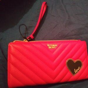 Red Victoria Secret wrist wallet
